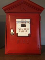 Vintage Red Fire Alarm Box Pull Station. Great Condition
