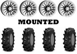 Kit 4 Itp Cryptid Tires 30x10-14 On Itp Sd Dual Beadlock Polished Wheels Act