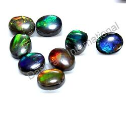 Natural Ammolite Oval Cabochon 6X8 mm To 8X10 mm Calibrated Loose Gemstone