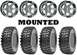 Kit 4 Maxxis Rampage Tires 32x10-15 On Itp Ss212 Machined Wheels 550