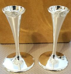 Vera Wang Silver Infinity Candlestick Holders 2 Love Knot 5