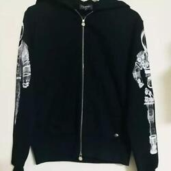 CHANEL PARKA HOODIE 2017AW WOMEN LADIES 38 USED BLACK JAPAN AUTHENTIC RARE FS