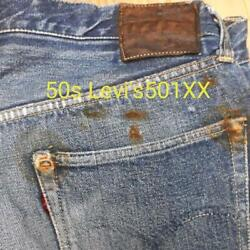 Levi's 501xx Leather Patch Jeans Pants 50's Vintage Rare From Japan