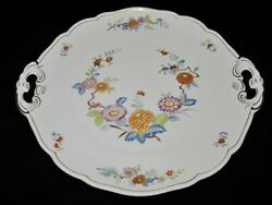 Hutschenreuther Mandalay 31372 Floral, Handled Cake Plate, 10 1/8