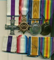 A Wwi M.c. Group Of Four Awarded To Lieutenant F. M. Tordiffe 29th Battalion