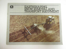 John Deere Earthshaping Snow Removal And Transport Equipment Sales Brochure