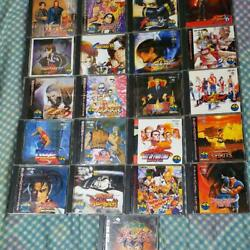 Snk Neogeo Software Set Of 21 King Of Fighters Fatal Fury Samurai Shodown And More