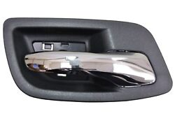 Interior Inner Inside Door Handle Chrome Lever With Black Housing Rear Right