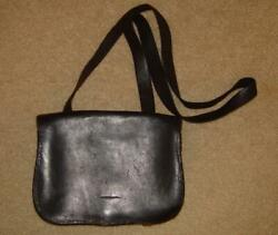 Beautiful Civil War Private Purchase Officer's Black Leather And Tar Haversack