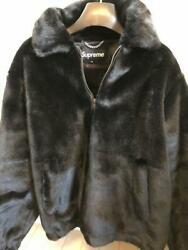Supreme 17ss Faux Fur Half Zip Pullover Bomber Jacket Size M Rare From JAPAN
