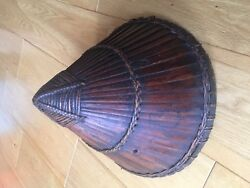 A Chinese Bamboo War Helmet For Sword Collector
