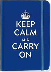 Keep Calm and Carry On Blue Journal (Diary Notebook) by Peter Pauper Press