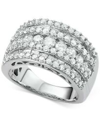 Five-Row Diamond Band (3 ct. t.w.) in Engagement Wedding Solid Gold Gift Jewelry