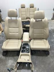 2011-2017 Dodge Durango Tan Leather Front/rear Seat W/console 2nd/3rd Row Driver