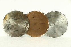 Regina Music Box Group Of 3 Antique 15 1/2 Disks Waltz Me Bill And More 30753