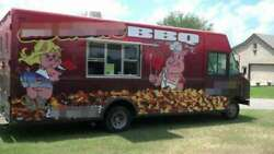 Fully Self-Contained 2002 - 18.6' Ford Barbecue Food Truck  Mobile Food Unit fo