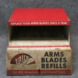 Trico Tin Advertising Store Counter Top Display Cabinet Gas Service Station 50s