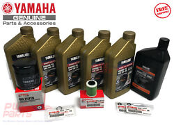 Yamaha F150 Outboard Oil Change Kit 5w-30 4m Syn Fuel Filter Gear Lube Maint Kit