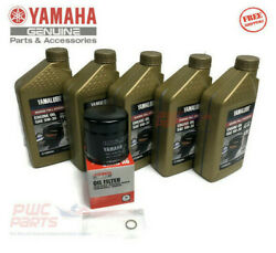 Yamaha F150 F175 Vf175 Outboard Full Synthetic Oil Change Filter Kit 5w-30 4m