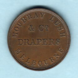 Australia Token. Moubray And Lush 1d.. Melbourne Vic.. Rare This Grade Gef
