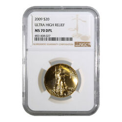 Certified 2009 Ultra High Relief Gold American Eagle MS 70 DPL NGC