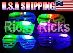 LED Shutter Glasses Light Up Shades Flashing Rave Wedding Glow Party Supplies