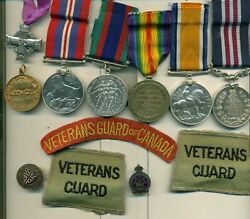A Wwi Mm Group Of 7 Awarded To Gunner Aw Barnes Canadian Field Artillery