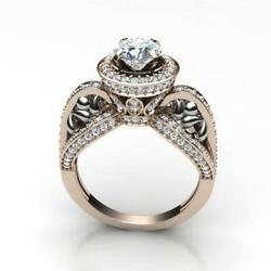 Si1 G 1.60ct Natural Diamond Solitaire Anniversary Ring 14k Solid Gold Prong Set