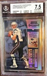 TOM BRADY 2000 PLAYOFF CONTENDERS CHAMPIONSHIP TICKET 100 BGS 7.5 WITH 10 AUTO
