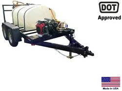 SPRAYER Commercial - Trailer Mounted - Electric Reel - 500 Gallon  Highway Ready