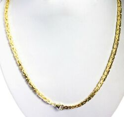 35.70 Gm 14k Solid Gold Yellow Menand039s Womenand039s Byzantine Necklace Chain 22 3mm