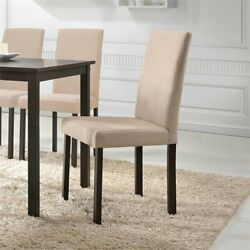 Baxton Studio Andrew Dining Side Chair In Beige Set Of 4