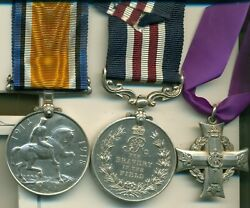 A Wwi M.m. Group Of Three Awarded To Acting-sergeant W. S. Tedford Canadian