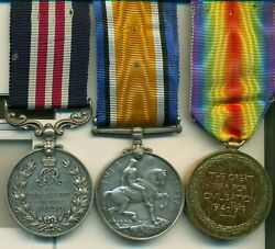 A Wwi M.m. Group Of Three Awarded To Acting Sergeant-major J. M. Brown Canadian