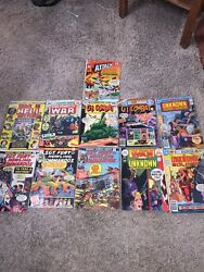 Marvel And Dc Lot Of 11 War Comic Books Old G.i. Combat Sgt. Fury War Is Hell