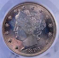 1894 Liberty V Nickel Pcgs Ms 64 Excellent Luster And Color, Well Struck