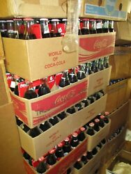 100 CASES COCA-COLA 8 OZ. BOTTLES OVER 300 DIFFERENT DESIGNS  PICK UP ONLY