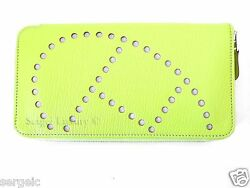 Rare Authentic New Hermes Evelyn Long Wallet Soufre Yellow Cherve Clutch