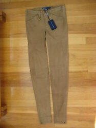 Brown Lamb Suede Pants 0 Leggings Skinny Leather Jeans Polo 1298