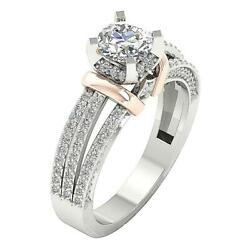 Split Shank Solitaire Engagement Ring I1 G 1.55 Ct Real Diamond 14k Solid Gold