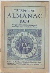 1939 Telephone Almanac American Telephone And Telegraph Bell System