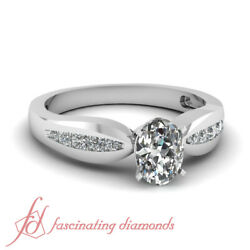 .65 Ct Oval Shaped Cutvery Good Diamond Tapered Engagement Ring Channel Set Gia