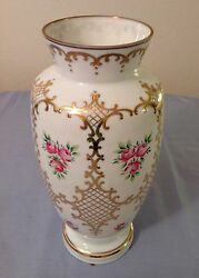 Antique English Bristol Vase Hand Blown And Painted 22k Gold Reduced 89.95