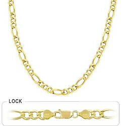 6.80mm 20 26 Gm 14k Gold Solid Yellow Open Menand039s Figaro Chain Polished Necklace
