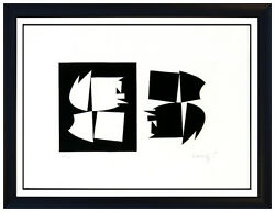 Victor Vasarely Rare Etching Authentic Hand Signed Modern Illusion Op Artwork