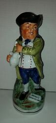 Antique Staffordshire Hearty Goodfellow Figural Ceramic Handle Toby Jug
