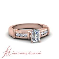 3/4 Carat Radiant Cut Diamond Channel Set Stunning Engagement Ring For Women Gia