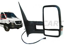 For MB Sprinter Right Passenger Side View Mirror Long Arm Heated Power Signal