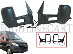 For MB Sprinter Driver Passenger Left Right Side Rear View Mirror Long Arm Pair