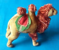 Vintage-rare Camel With Bell Maruei Toys Stuffed Mohair 8 X 8 W/tags